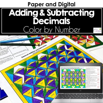 Decimal Addition and Subtraction Color by Number
