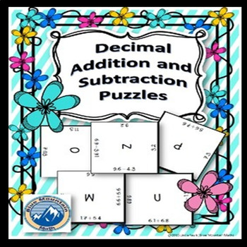 Decimal Addition and Subtraction Puzzle Set