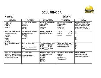 Decimal Bell Ringer