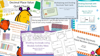 NEW 5th GRADE DECIMAL VALUE PACK:Place Value,Multiplying &