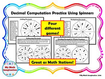 Decimal Computation Using Spinners - Add, Subtract, Multip
