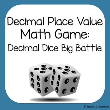Decimal Place Value Game