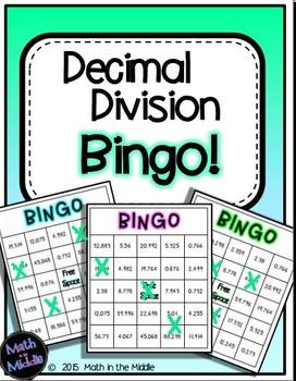 Decimal Division Bingo