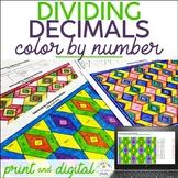 Decimal Division (decimal by decimal) Color by Number