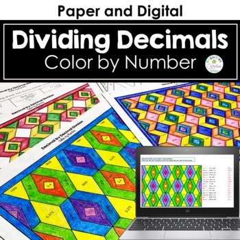 Decimal Division (decimal by decimal) Color by Number