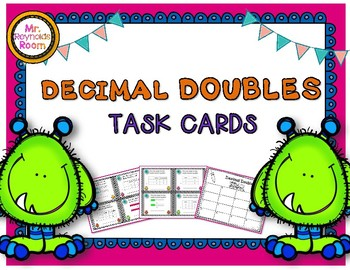 Decimal Doubles Task Cards Using