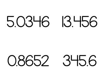 Decimal Flashcards (up to ten thousandths)