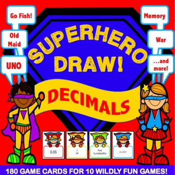 Decimals Activities: 10 Decimals Games (Standard Form, Wor