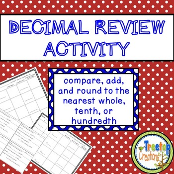 Decimal Review Activity