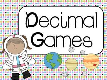 Decimal Games: Common Core Aligned CCSS 4.NF.6, 4.NF.7, 5.NBT.3