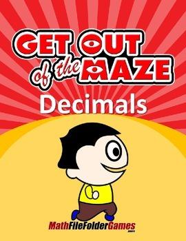 Decimal Mazes BUNDLE (Fun Decimal Worksheets)