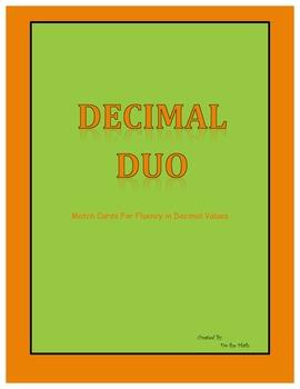 Decimal Models Match Cards