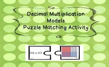 Decimal Multiplication Models Matching Activity