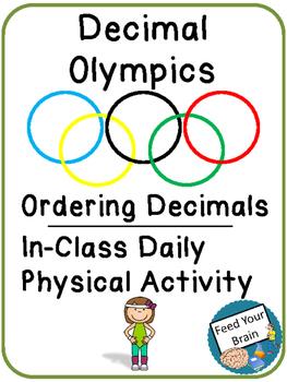 Decimal Olympics - Ordering Decimals Activity