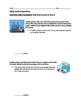 Assessment: Decimal Operations