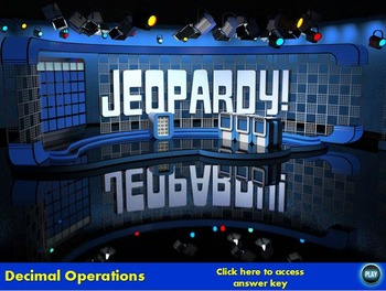 Decimal Operations Jeopardy
