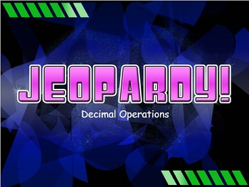 Decimal Operations Jeopardy Review Game! Elementary and Mi