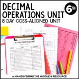 6th Grade Decimal Operations Unit: 6.NS.2, 6.NS.3