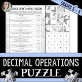 Decimal Operations Puzzle