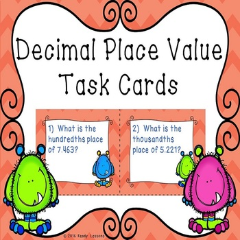 Decimal Place Value Task Cards 5.NBT.3