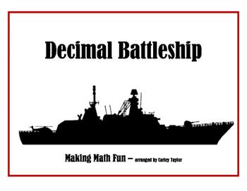 Decimal Place Value Battleship