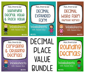 Place Value with Decimals (with Expanded Form/Word Form, R