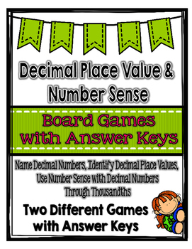 Decimal Place Value & Number Sense Board Games {Great for