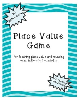 Decimal Place Value and Rounding Game