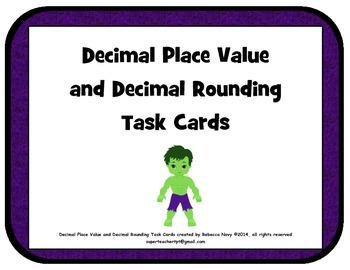 Decimal Place Value and Rounding Task Cards