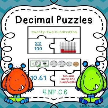 Decimals Game Puzzles 4.NF.6