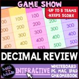 Decimal Review Game Show