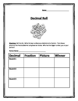 Decimal Roll