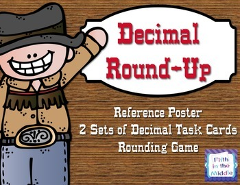 Decimal Round-Up - Decimal Rounding Task Card and Game