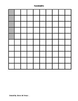 Decimal Squares Templates