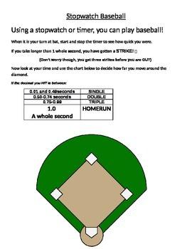 Decimal Stopwatch Baseball