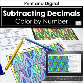 Decimal Subtraction Color by Number