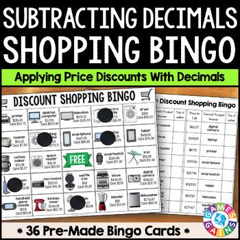 Decimal Subtraction Math Activity: Subtracting Decimals Sh