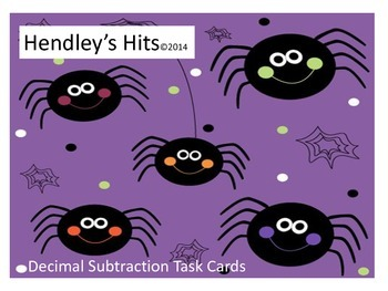 Decimal Subtraction Task Cards