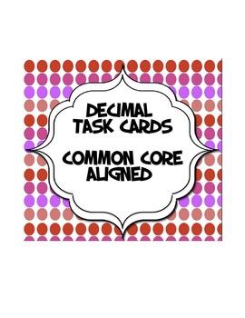 Decimal Task Cards --50 Task Cards to   Order/Compare/Iden