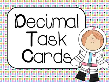 Decimal Task Cards:  Common Core Aligned CCSS 4.NF.6, 4.NF