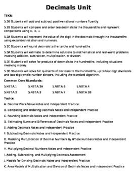 Decimal Unit Bundle (82 page)