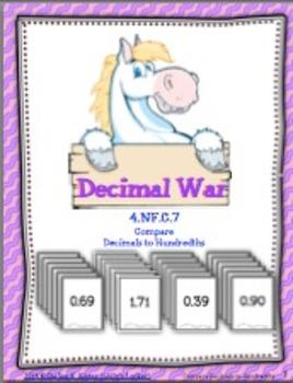 Decimal War - Comparing Decimals to Hundredths