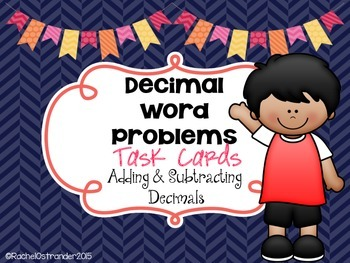 Decimal Word Problems Task Cards - Decimal Addition & Subtraction