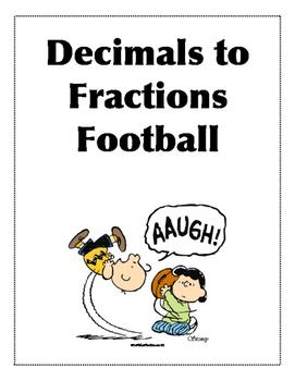 Decimal and Fraction Matching File Folder Game