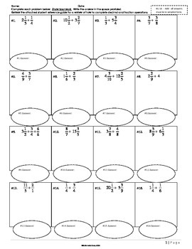 Decimal and Fraction Review Homework Packet  with Rubric a