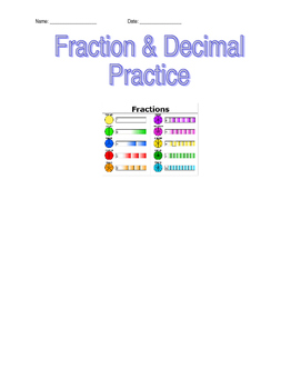 Decimal and Fraction Practice