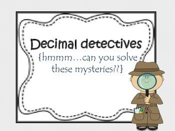 Decimal detectives