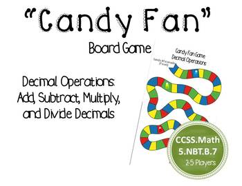 Decimal operations board game - great for math centers!