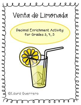 Decimales- Venta de Limonada/ Decimals- Lemonade Stand