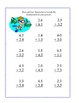 Decimals-Adding and Subtracting Tenths & Hundredths-Summer Theme